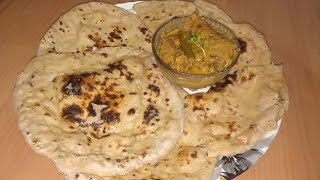 Naan without Tandoor-- नान बिना तनदूर के। तावा नान  How to make Tava Naan