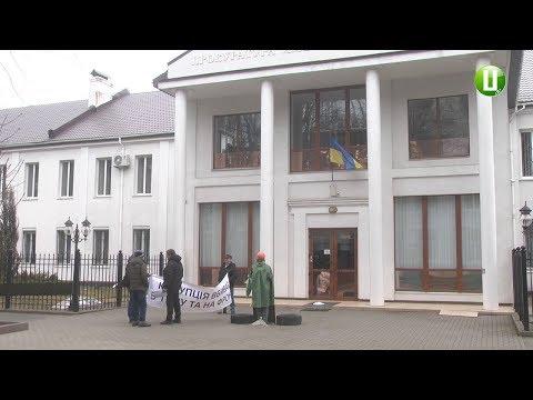Поділля-центр: Одиночний протест відбувся сьогодні під стінами Хмельницької обласної прокуратури
