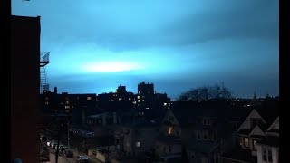 Creepy Sky Changing Color in NYC.  UFO???