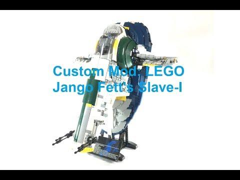 Custom: LEGO Jango Fett's Slave-I: Seismic Charges and Upgraded Interior 75060 UCS Star Wars