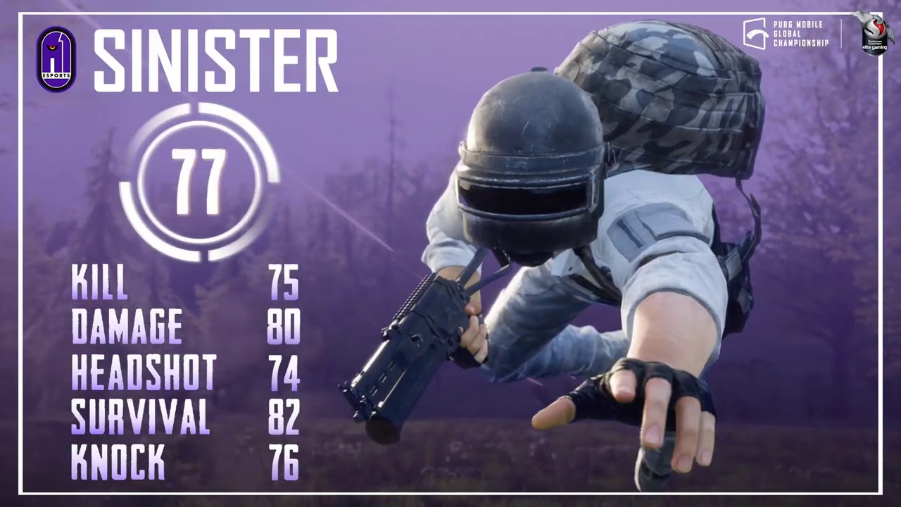 The PUBG MOBILE Global Championship Pro-Player Card