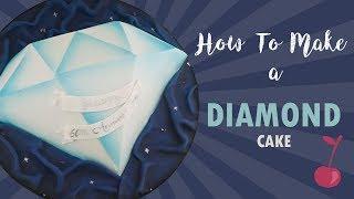 Diamond Cake Tutorial   How To   Cherry School