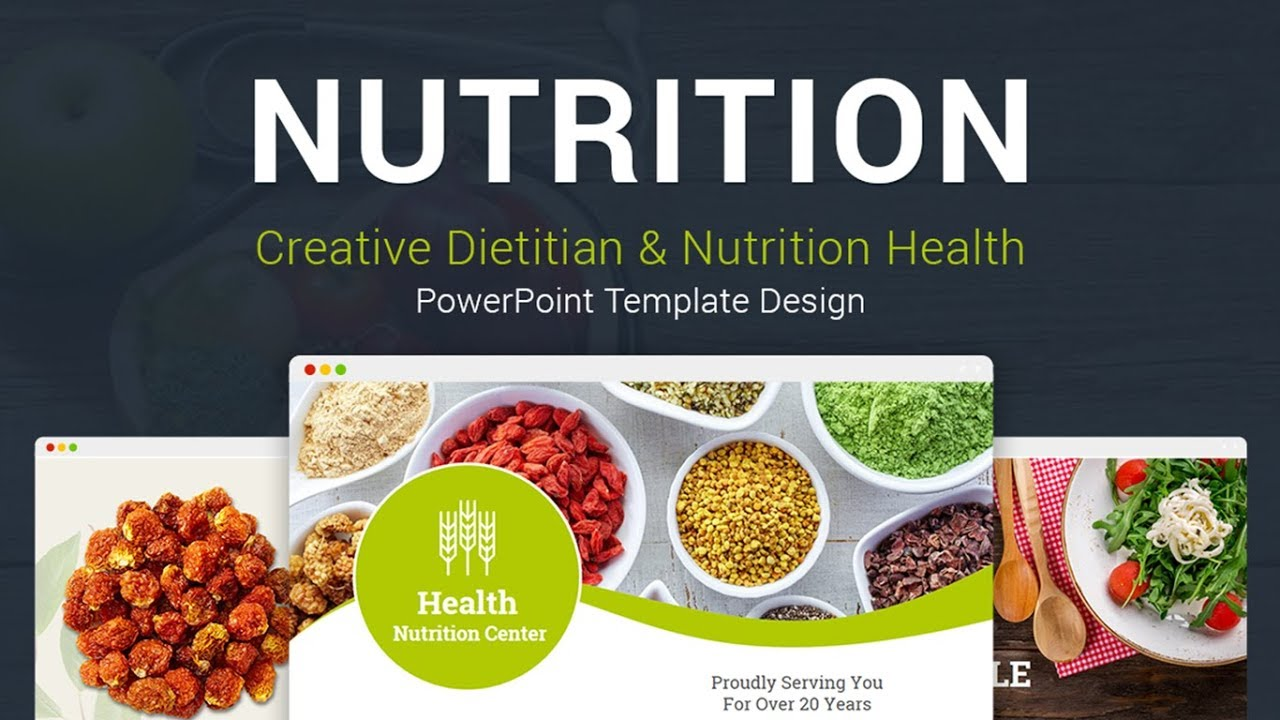 nutrition health creative powerpoint template designs youtube