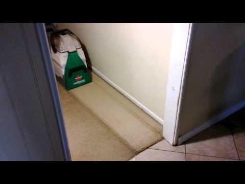 Bissell Big Green Deep Cleaning Machine vs. a high traffic hallway