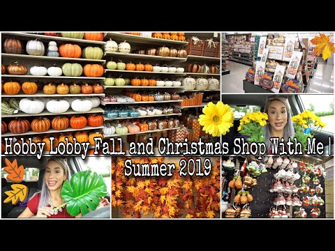 Hobby Lobby Fall and Christmas Shop With Me | Summer 2019