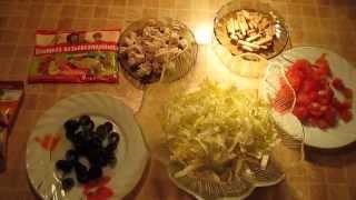 Мои любимые салаты - Салат из пекинской капусты с курицей и помидорами.