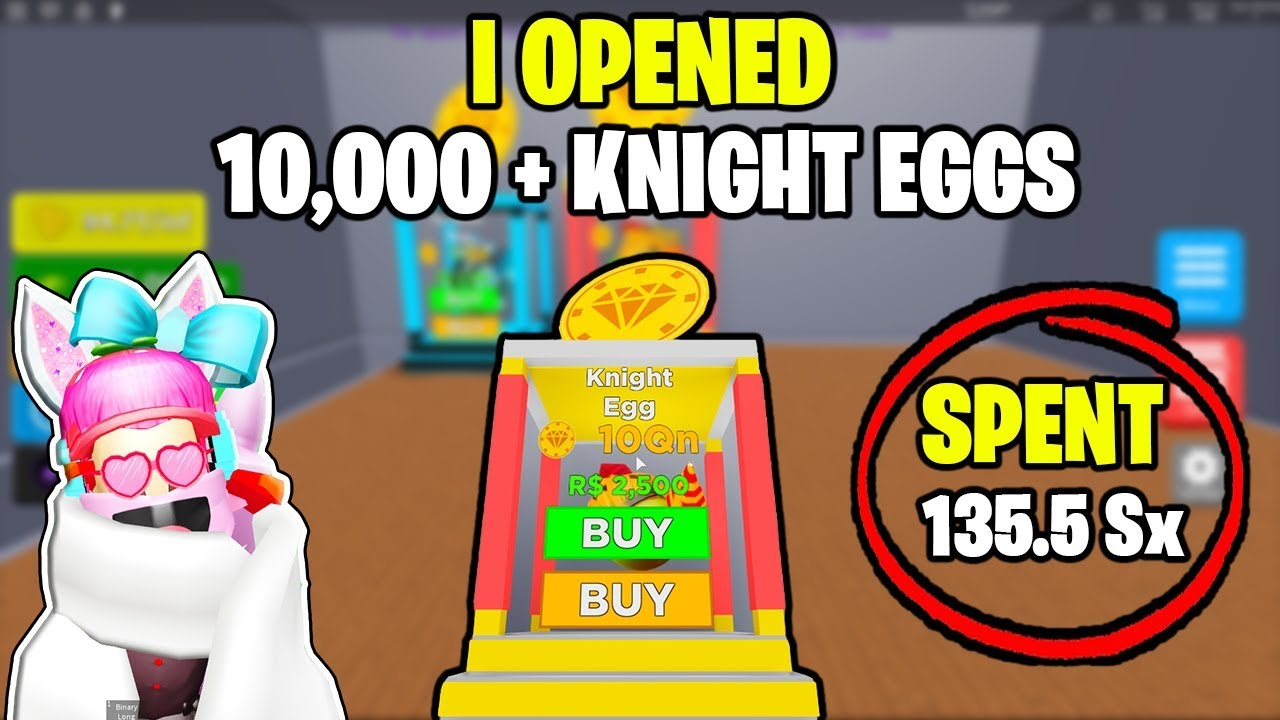 Magnet Simulator Opening 13000 Of The Best Eggs Knight Egg - i bought the new knight egg best rebirth magnet in roblox magnet simulator