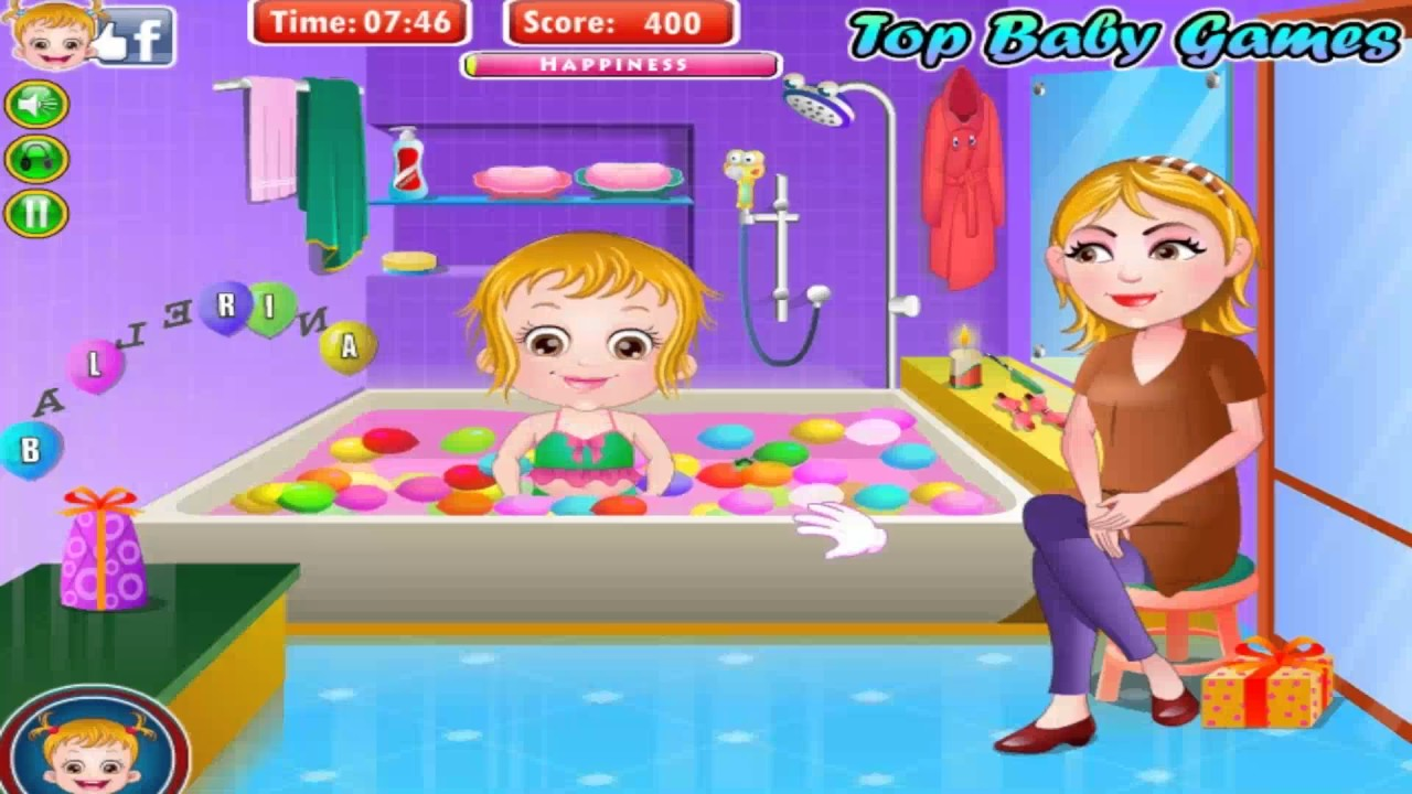 baby hazel shower in bath tub while playing a guessing game with her mother games fun youtube. Black Bedroom Furniture Sets. Home Design Ideas