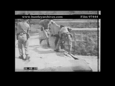 British Military in Aden in the 1960's.  Archive film 97444