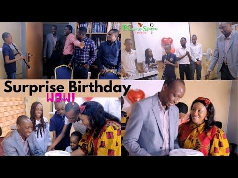 Dad's surprise birthday at his office - birthday celebration