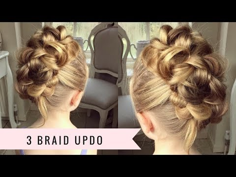 3 Braid Updo by SweetHearts Hair