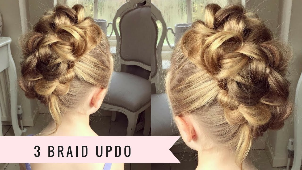 3 Braid Updo by SweetHearts Hair - YouTube