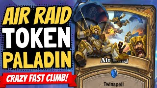 AIR RAID: PALADIN LEGENDS!! Fast & Easy Wins in Token Paladin! | Galakrond's Awakening | Hearthstone
