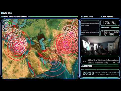 12/08/2016 -- Major Global earthquake unrest -- New warnings for Japan, Midwest, West coast, Europe