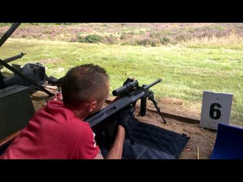 Steyr Aug .223 100m Horsford range UK 1