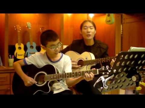 Sky Music บางแค (สอนกีต้าร์ อูคู เบส อื่นๆ 400บาท/เดือน ) - ปังปอนด์ ( เธอ )