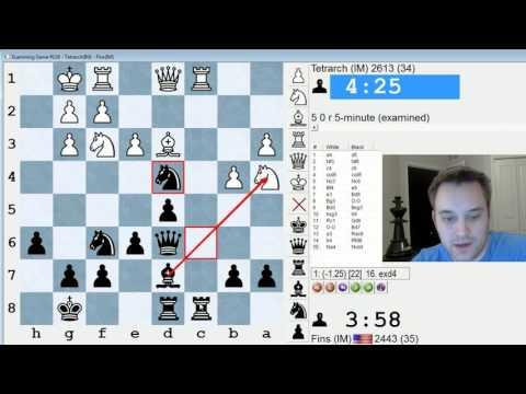Blitz Chess #364: IM Tetrarch vs. IM Bartholomew (Exchange Slav)