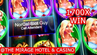 💰1700x LAS VEGAS JACKPOT HAND PAY ON HEIDI SLOT MACHINE @ The Mirage Casino | NorCal Slot Guy