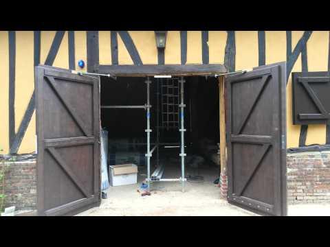 Motorisation d 39 un portail battant avec ouverture l 39 an - Motorisation porte de garage laterale ...
