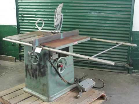 "Jos Poitras and Sons 10"" table saw. Table saw has a 42"""