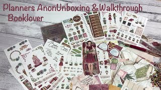 Planners Anonymous Unboxing and Walkthrough - Booklover