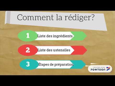 Comment Ecrire Une Recette De Cuisine En Francais Youtube
