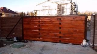 видео ворота откатные под ключ