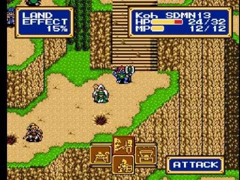 Shining Force 2 (Genesis) - Part 12 - Battle on a Mountain Side