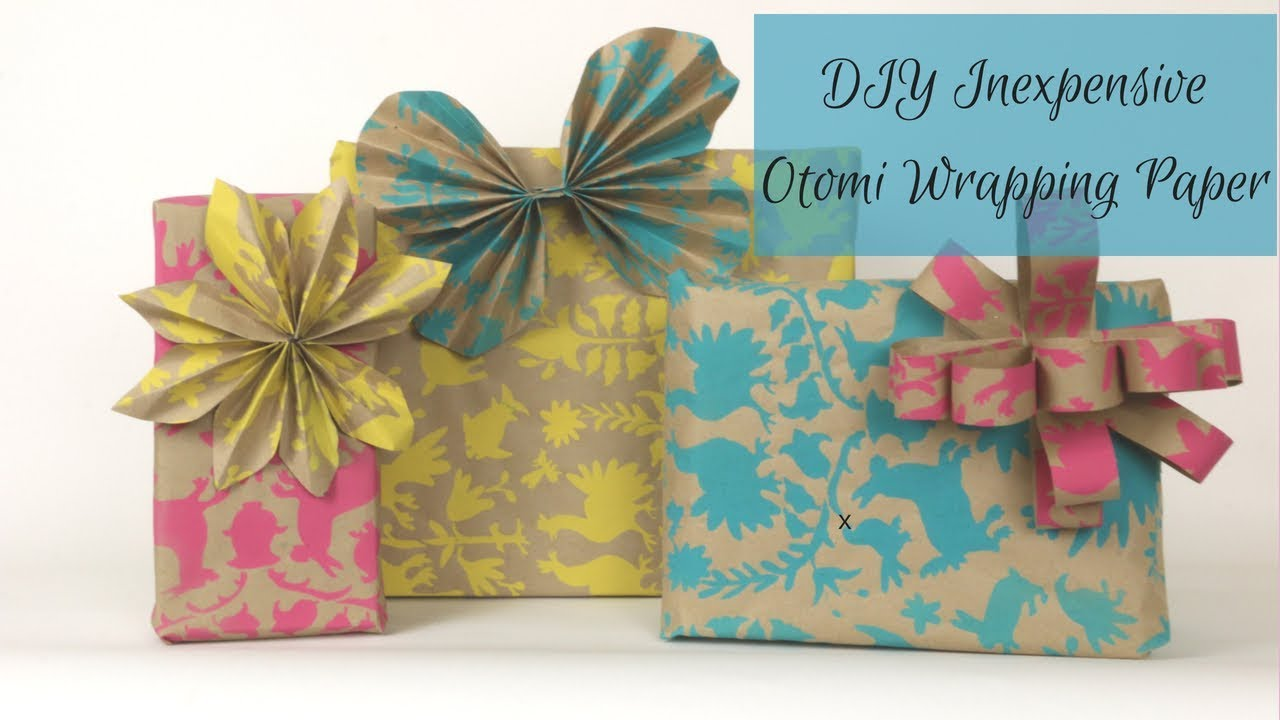 Christmas Hack Diy Otomi Design Wrapping Paper