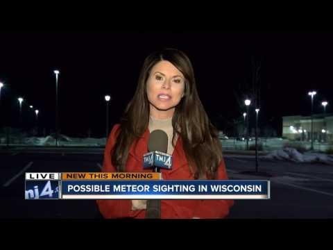 Possible meteor sighting in Wisconsin
