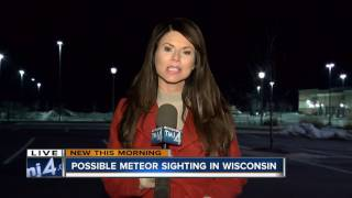 Meteor Blasts Over Wisconsin