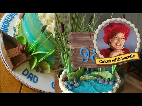 Fishing Cake Tutorial-90th Birthday Cake Ideas
