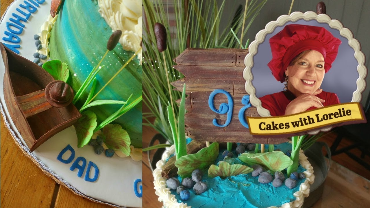 Fishing Cake Tutorial 90th Birthday Ideas