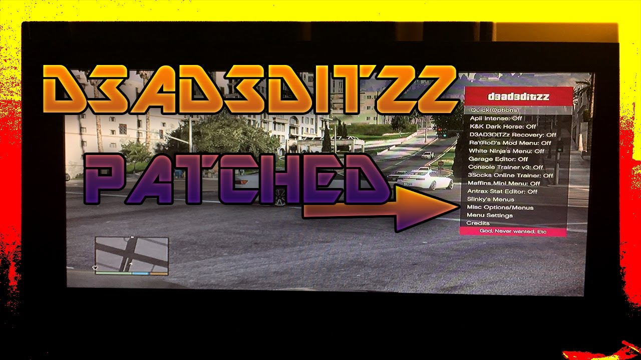 GTA 5 - ONLINE PS3 1 27 (D3AD3DITZZ OFW MOD MENU PATCHED)!!! by SVGNUM1 HD