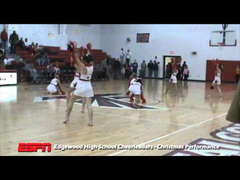 Edgewood High School Cheerleaders Christmas Performance