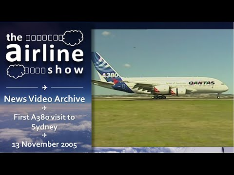 News Archive | First A380 arrives in Sydney in 2005