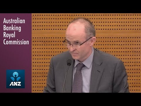ANZ's Head of Wealth Solutions & Partnerships testifies at the Banking Royal Commission