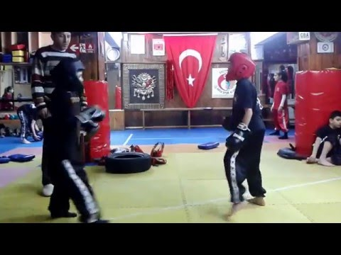 wushu    burak tüysüzoğlu  mustafa kavak hocaları niyazi akca eşliğinde müsabaka  2016 01 18