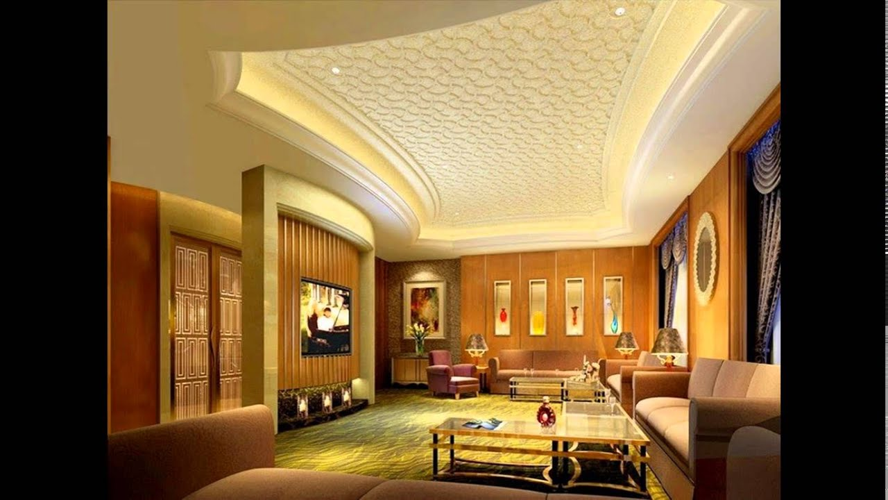 CEILING DESIGN FOR LIVING ROOM - YouTube