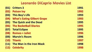 Leonardo DiCaprio Movies List