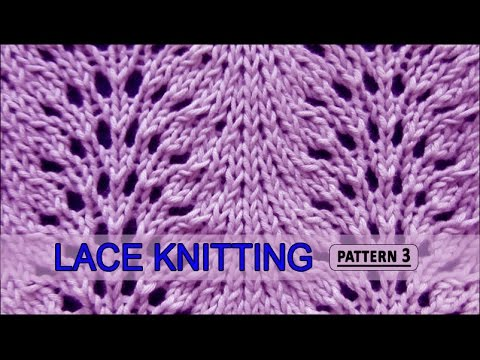 Feather And Fan Lace Knitting Pattern 3 Youtube
