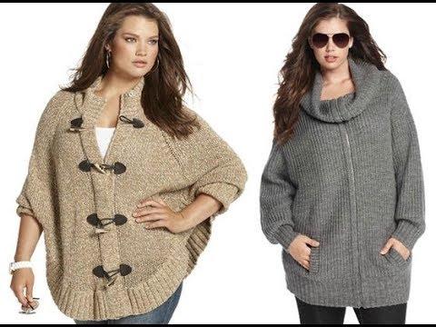 вязание спицами кардиган для полных женщин 2019 Knitting With