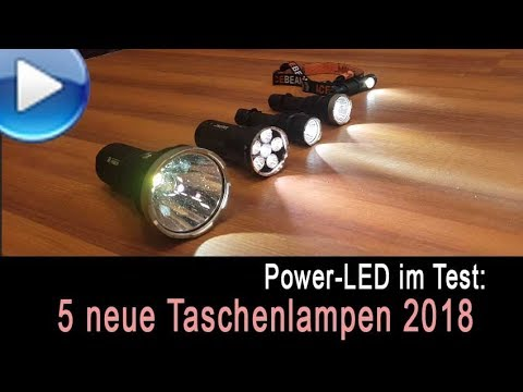 5 neue led taschenlampen im test 2018 youtube. Black Bedroom Furniture Sets. Home Design Ideas