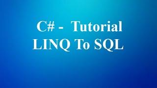 Insert data Linq to sql, and show Sql server data Windows form.