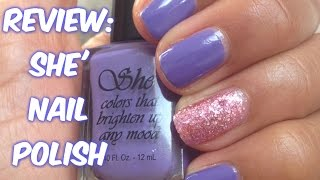 REVIEW: She' Nail Polish  |  CurlyKimmyStar Thumbnail