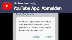 YouTube App: Abmelden bzw. Ausloggen - So geht's