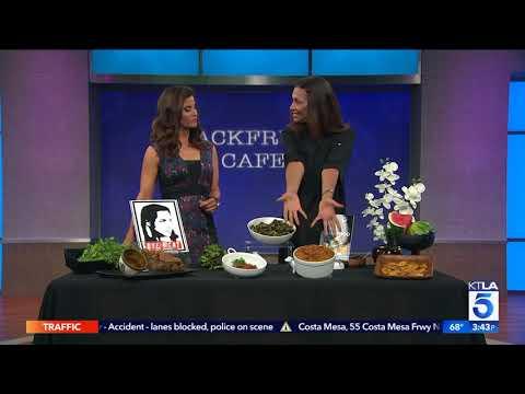 Angela Means of Jackfruit Cafe talks Vegan Soul Food on KTLA 5 News at 3pm