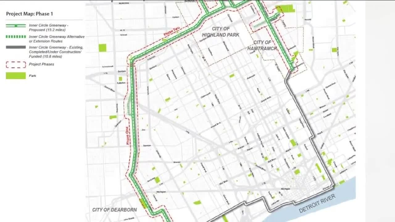 detroit vacant land map Transforming Vacant Land Into Recreational Path Through The City detroit vacant land map