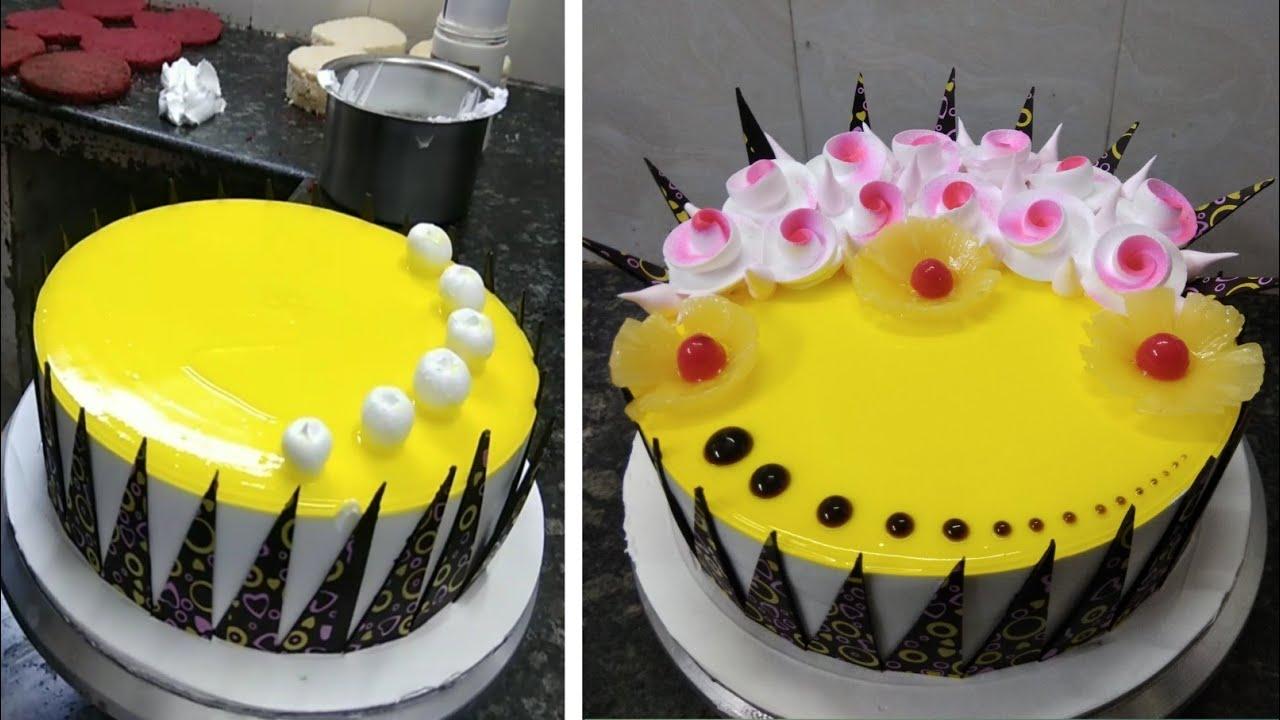 Pineapple Cake Recipe |Pineapple Birthday Flowers Cake Design |Pineapple Birthday Cake