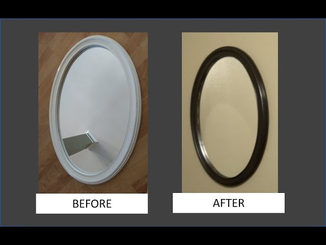 Spray Paint A Mirror Frame You, What Paint To Use On Metal Mirror Frame
